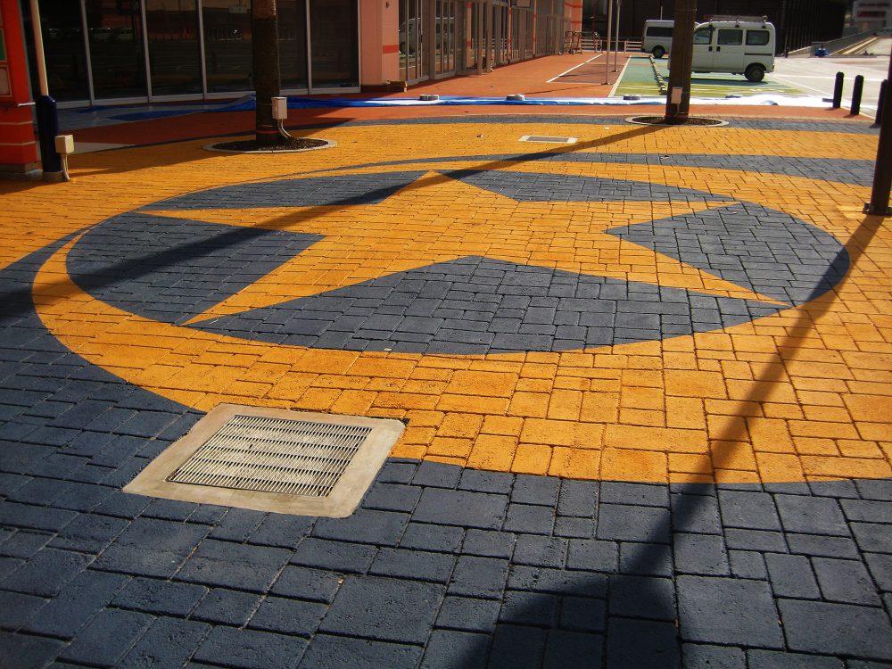 商業施設内広場ストリートプリント施工実績