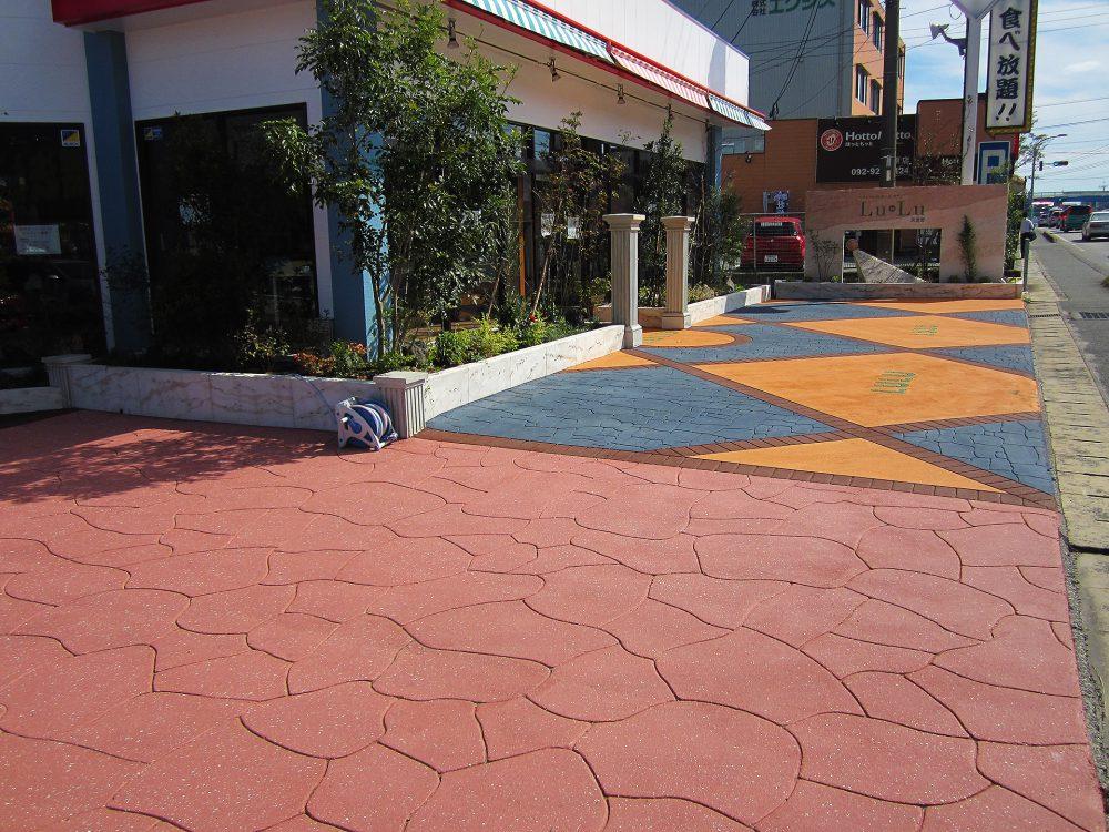 店舗前デザイン例ストリートプリント施工実績