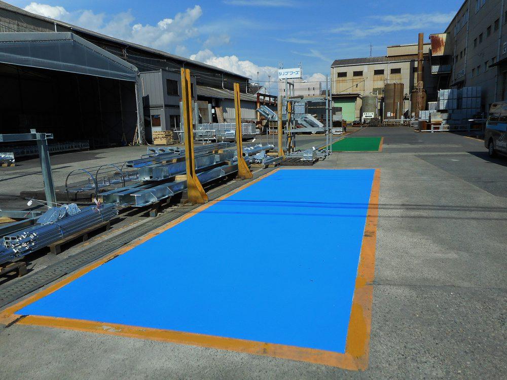 工場内駐車指定場所ストリートプリント施工事例